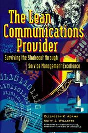 Cover of: The lean communications provider