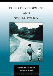 Cover of: Child Development & Social Policy | Ed Zigler