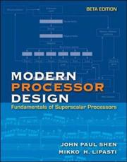 Cover of: Modern Processor Design | John P. Shen