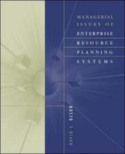 Cover of: Managerial Issues of Enterprise Resource Planning Systems | David Louis Olson