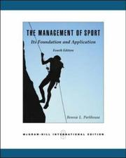 Cover of: Management of Sport | Bonnie L. Parkhouse