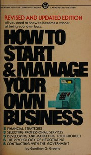 How to start and manage your own business
