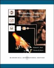 Technology Ventures by Dorf, Richard C.