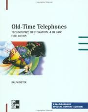 Cover of: Old Time Telephones  | Ralph O. Meyer