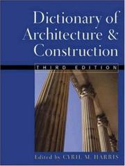 Cover of: Dictionary of architecture & construction |
