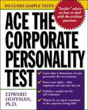 Cover of: Ace the Corporate Personality Test | Edward Hoffman
