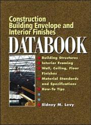 Cover of: Building Envelope and Interior Finishes Databook | Sidney M. Levy