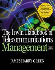 Cover of: The Irwin handbook of telecommunications management