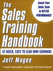 Cover of: sales training handbook | Jeffrey L. Magee