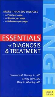 Cover of: Essentials of Diagnosis & Treatment