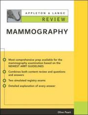 Cover of: Appleton & Lange Review of Mammography | Olive Peart