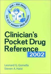 Cover of: Clinician's Pocket Drug Reference 2002