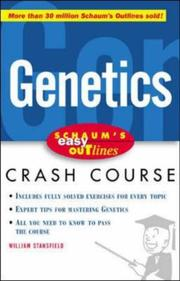 Cover of: Easy Outline of Genetics | William D. Stansfield