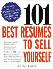Cover of: 101 Best Resumes to Sell Yourself