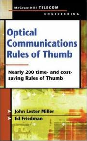Cover of: Optical Communications Rules of Thumb | John Lester Miller