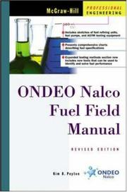 Cover of: Ondeo Nalco Fuel Field Manual  | Kim B. Peyton