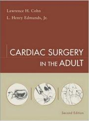Cover of: Cardiac surgery in the adult |