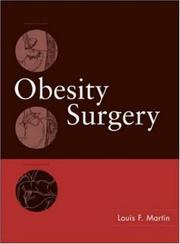 Cover of: Obesity Surgery | Louis F. Martin