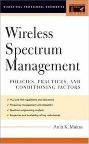 Cover of: Wireless Spectrum Management (McGraw-Hill Professional Engineering) | Amit K. Maitra