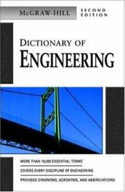 Cover of: Dictionary of Engineering | McGraw-Hill