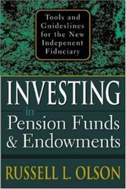 Cover of: Investing in Pension Funds and Endowments