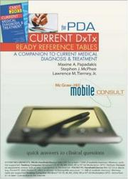 Cover of: CURRENT DxTx Ready Reference for PDA  | Maxine A. Papadakis