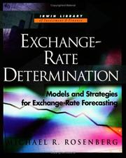 Cover of: Exchange Rate Determination (Irwin Library of Investment & Finance.)