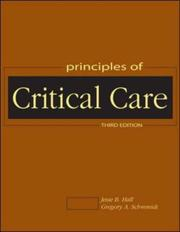 Cover of: Principles of critical care |