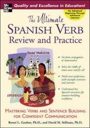 Cover of: The ultimate Spanish verb and sentence building book