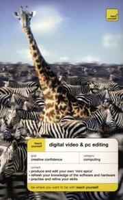 Cover of: Teach yourself digital video and PC editing | Peter Cope