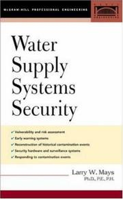 Cover of: Water Supply Systems Security