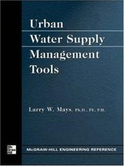 Cover of: Urban Water Supply Management Tools