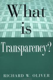 Cover of: What is Transparency? by