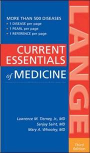 Cover of: Current Essentials of Medicine