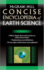 McGraw-Hill concise encyclopedia of earth science.