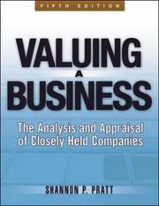 Cover of: Valuing a Business