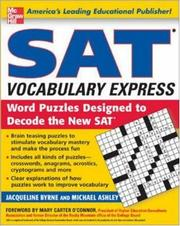Cover of: SAT vocabulary express [electronic resource] : word puzzles designed to decode the new SAT