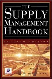 Cover of: The supply management handbook