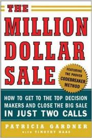 Cover of: The Million Dollar Sale | Patricia Gardner