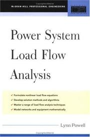 Cover of: Power System Load Flow Analysis (Professional Engineering) | Lynn Powell
