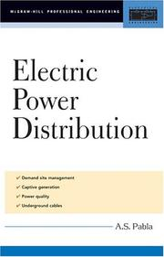 Cover of: Electric Power Distribution (McGraw-Hill Professional Engineering) | A. S. Pabla