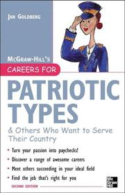 Cover of: Careers for Patriotic Types & Others Who Want to Serve Their Country, Second ed. (Careers for You Series)