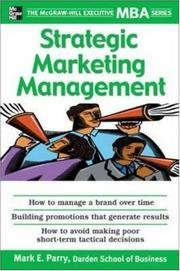 Cover of: Strategic Marketing Management