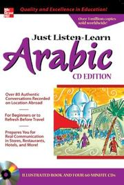 Cover of: Just Listen 'n' Learn Arabic, 2E Package (Book + 3CDs) (Just Listen n' Learn)