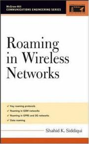 Cover of: Roaming in Wireless Networks (Communications Engineering) | Shahid Siddiqui