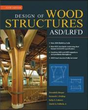 Cover of: Design of wood structures--ASD/LRFD