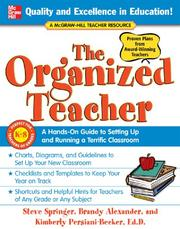 Cover of: The Organized Teacher | Steve Springer