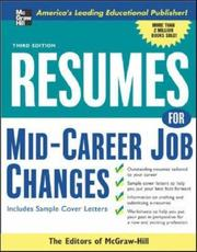 Cover of: Resumes for mid-career job changes |