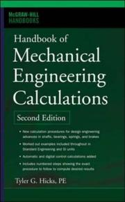Cover of: Handbook of mechanical engineering calculations