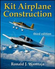 Cover of: Kit airplane construction